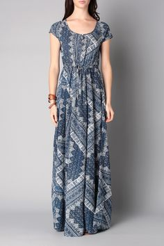 Maxi dress - pl951687 - Blue / Navy Pepe Jeans Femme, Night Suit, Short Sleeve Dresses, Dresses With Sleeves, Suits, Navy, My Style, Clothing, Blue