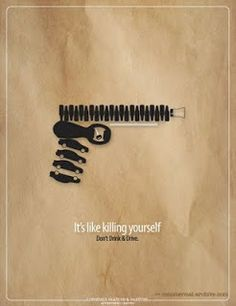 It's like killing yourself. Advertising Agency: Lonsdale Saatchi & Saatchi, Port of Spain, Trinidad and Tobago Creative Creative Poster Design, Creative Posters, Cool Posters, Creative Advertising, Advertising Poster, Advertising Design, Advertising Agency, Social Awareness Posters, Alcohol Awareness