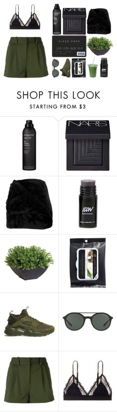"""""""Flawless"""" by ashola18 ❤ liked on Polyvore featuring Living Proof, NARS Cosmetics, Woven Workz, Ethan Allen, NIKE, Giorgio Armani, Versace, LoveStories, nike and short"""