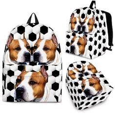 8d21b75a22 American Staffordshire Terrier Dog Print Backpack-Express Shipping – The  Whisker Depot