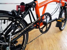 Limited Black Edition Bromptons now in store! M6L Orange/Black