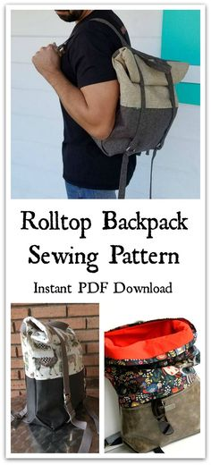 Comfort and performance go hand in hand with this expandable and fully adjustable rucksack. Perfect for a hike through the woods or a walk to the farmers market, this unisex design can be made in any style you prefer. It features adjustable backpack straps and front closure straps, as well as a large front zippered pocket and top carrying/hanging handle. Instant PDF download. #ad #affiliate #sewing #pattern