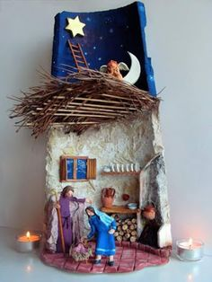 Artesanato em telhas - Happy Christmas - Noel 2020 ideas-Happy New Year-Christmas Christmas Nativity Scene, Christmas Time, Christmas Crafts, Christmas Decorations, Xmas, Christmas Ornaments, Holiday Decor, Nativity Scenes, Nativity Creche