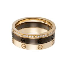 Cartier LOVE ring, three bands @}-,-;--