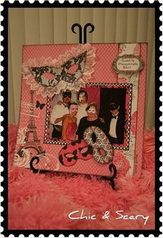 Masquerade Ball scrapbook page will need to do this after my masquerade party