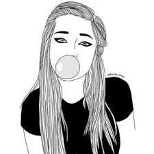 Resultado de imagem para tumblr girl drawing easy