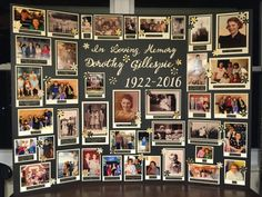 Memory board for funeral . - Memory board for funeral - In Memory Of Dad, In Loving Memory, Funeral Posters, Funeral Planning, Funeral Ideas, Cremation Services, Picture Boards, Picture Collage Board, Picture Collages