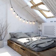 letto su pedana | idee salvaspazio per la camera da letto
