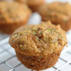 The perfect healthy mini muffins packed with zucchini, apples and carrots.