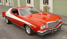 Starsky & Hutch 1976 Ford Torino. What girl didn't smile when she saw this car....(= ha ha