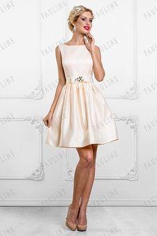 Скромные свадебные платья короткие