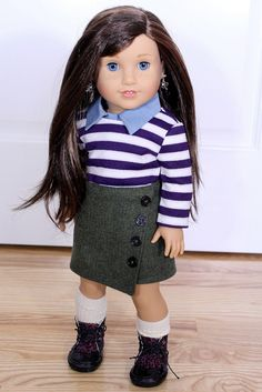 Asymmetrical Tweed Wrap Skirt ($14) for AG dolls by ClarissesCloset on Etsy