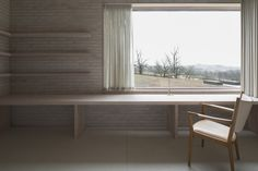 Nice wooden reveal. Life House by John Pawson.