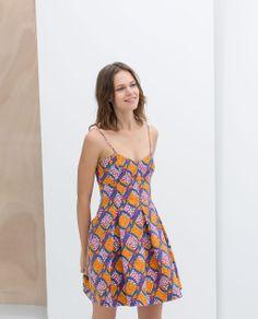 Image 3 of BOX PLEAT PRINTED DRESS from Zara