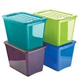 Gracious Living Translucent Storage Container, 72L   Canadian Tire. You could use the colours to determine casual, work and dressy items in your wardrobe.