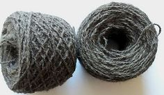 Handspun husky yarn #handspun #chiengora #husky