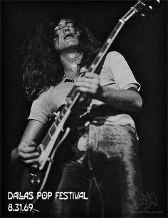 Led Zeppelin, Dallas Pop Festival, 8/31/1969 via http://www.ledzeppelin.com