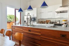 A Mid-Century Victorian Home in San Francisco's Mission District Mission District, Mid Century Style, Beautiful Islands, Victorian Homes, House Tours, Decoration, Home Kitchens, Color Pop, Kitchen Design