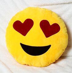 In love emoji pillow
