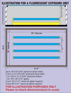 UV Exposure Unit Plan 30-inch - T-Shirt Forums