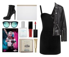 """""""4.718"""" by katrina-yeow ❤ liked on Polyvore featuring Ito Bindery, Alexander Wang, Alaïa, Alexander McQueen, H&M, CLEAN, Smashbox, Le Couvent des Minimes and Stila"""