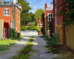 Greg LaRock - Church Hill Alley- Oil - Painting entry - August 2013 | BoldBrush Painting Competition