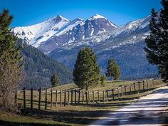 Driveway to your vacation rental home, as you look into the Scapegoat Wilderness