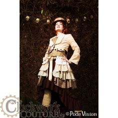 Sepia Dreams Steampunk Bustle - because sometimes a bustle is a pain the the bum! This tree tiered piece ( in three colors!) can go with a variety of costumes, $45.95