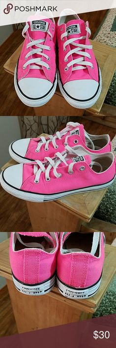Neon Pink Converse EUC. These have been loved and well taken care of. Purchased from Journeys. Shoes Sneakers