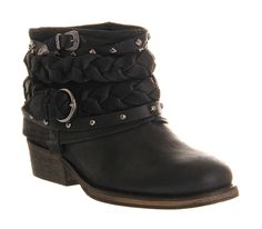 Office Boho Boot Black Suede - Ankle Boots