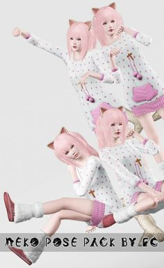 Neko Pose Pack by Fyanna - Sims 3 Downloads CC Caboodle
