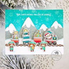 Mama Elephant - Little Agenda Trains - Pyssloteket Diy Christmas Cards, Xmas Cards, Christmas Crafts, Kids Christmas, Christmas Ornament, Card Making Inspiration, Making Ideas, Easy Christmas Drawings, Mama Elephant Stamps