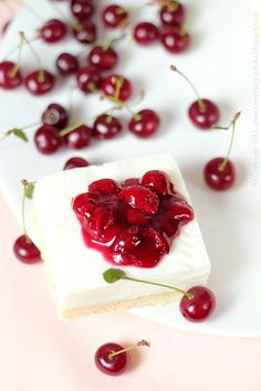 buttermilk squares with cherries