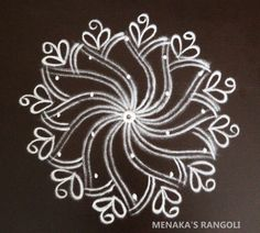 Rangoli Designs Latest, Kolam Designs, Kolam Rangoli, Black N White, Indian Art, Wallpaper Quotes, Simple Designs, Dots, Decoration