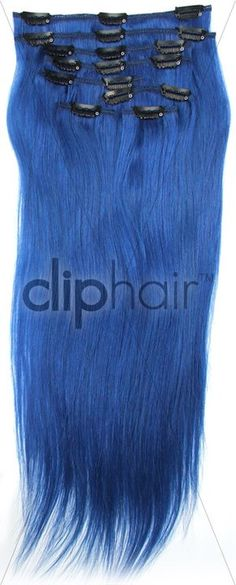 Tape hair extensions blackvibrant blue hair extensionsblue clip in hair extensions colour blue product link http pmusecretfo Choice Image