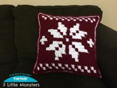 Corner to corner crochet has been very popular recently, especially using it to crochet graphs. You use groups of double crochet worked diagonally in a stair step type pattern to create different pictures, changing colors as needed. This Scandinavian Snowflake pillowis a great way to try out corner to corner if you haven't already because it only uses two colors. It is also a great addition to your Christmas Decor.