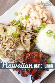 are few things in this world better than a good Hawaiian Plate Lunch. Here you will find everything you need to make a Hawaiian Plate Lunch at home! Beef Recipes For Dinner, Grilling Recipes, Pork Recipes, Brunch Recipes, Asian Recipes, Cooking Recipes, Summer Recipes, Hawaiian Plate Lunch, Hawaiian Dishes