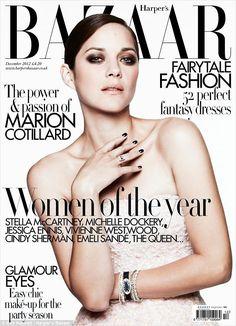 Marion Cotillard - Harpers Bazaar UK December 2012