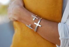 Cross Bracelet & Cross Bangle from Fashionology, look great together! Jewelry Accessories, Fashion Accessories, Fashion Jewelry, Style Fashion, Fashion Ideas, Fashion Tips, Cross Love, Bling, Diamond Are A Girls Best Friend