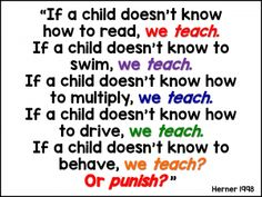 We teach or we punis