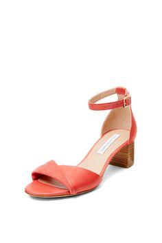DVF Florence Stacked Heel Ankle Strap Sandal