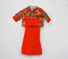 Vintage overalls/jacket toddler outfit