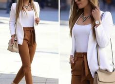 45 Best and Stylish Business Casual Work Outfit for Women Blazer Outfits Casual, Blazer Outfits For Women, Classy Outfits, Chic Outfits, Trendy Outfits, Sexy Work Outfit, Work Attire, Summer Work Outfits, Office Outfits