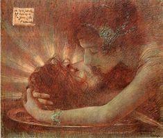 """Lucien Lévy-Dhurmer (1865-1953) - """"Salome"""", 1896, Pastel."""