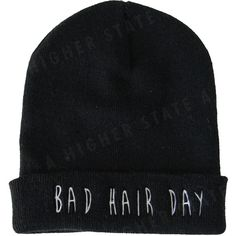 bad hair day beanie (€17) ❤ liked on Polyvore featuring accessories, hats, beanies, hair, beanie cap, beanie cap hat and beanie hats