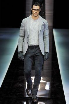 Colección Giorgio Armani fall/winter 2013, una combinación de claros oscuros ideal para una cita en la noche!!!