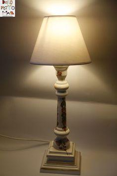 Lampka stołowa,nocna,drewno w Dekoratorka na DaWanda.com