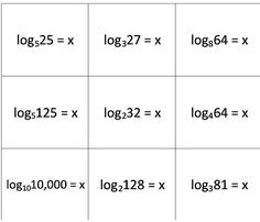 Solving logarithmic equation War... cards included. Each student gets 18 cards. Work the problem. Highest answer wins.