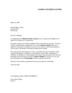 cover letter sample - Application Letter Cover