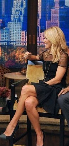 Kelly Ripa  Dress and shoes – Proenza Schouler